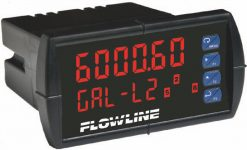 "<br> <div style=""max-width:500px""> <strong>FlowLine DataView LI55 Level Controller</strong> 6 digit LED display with 4 programmable relay outputs & 4-20mA repeater.</div> <ul> <br> 	<li>Main display 6 digits LED, 15mm high.</li> 	<li>Secondary display Engineering Units, 12mm high.</li>  	<li>LED relay status</li> 	<li>Programmable 4 relay outputs with level control functions.</li> 	<li>Push button interface.</li> 	<li>Inputs 4-20mA or 0-10VDC.</li> 	<li>Power supply 85-265VAC or 12-24VDC.</li> 	<li>4-20mA Repeater (optional).</li> 	<li>Faceplate IP65 rating.</li> 	<li>Linearization 2-32 point function (none linear tanks).</li> 	<li>Linear, square root and programmable exponent functions.</li> </ul>  Ordering Codes: LI55-1001 